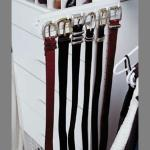 Sliding Belt Rack  -  7 Hooks hold multiple belts